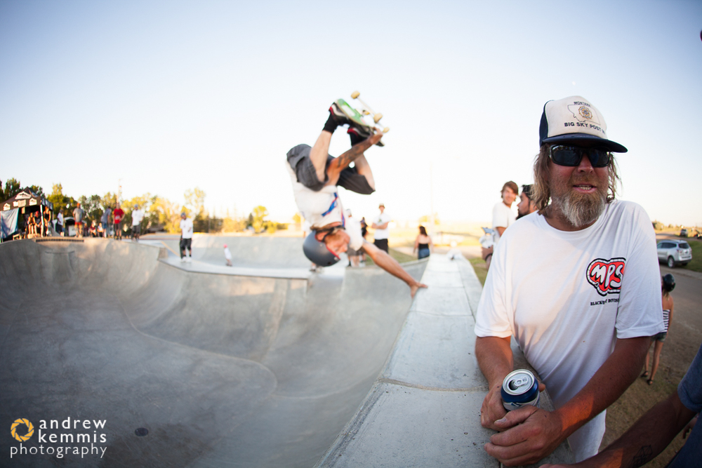 Dave Goff was too busy being amazing to notice Tim Bowers' handplant behind him.