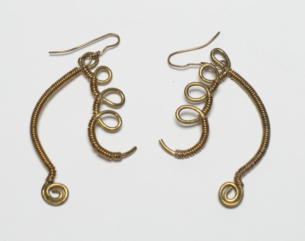 Egyptian Harp Earrings