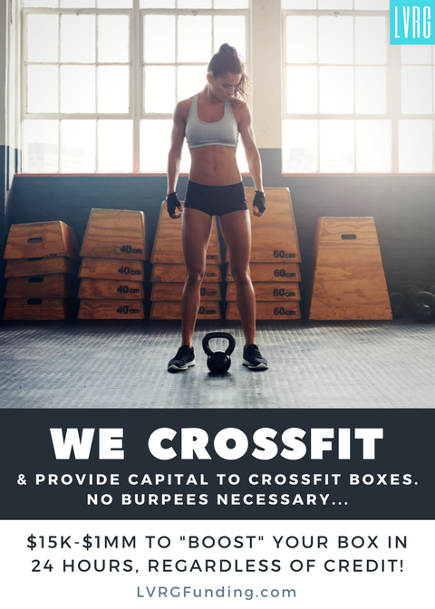 Crossfit Funding CrossFit Box Financing WOD Loans Burpees CrossFit Community Loans Funding Cross Fit Box Life BoxLife Loans Funding Working Capital WOD Equipment Crossfit WOD