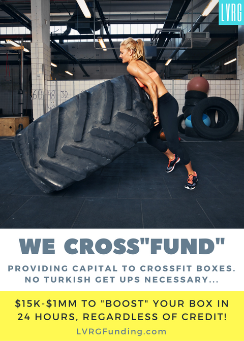 Crossfit Funding CrossFit Box Financing WOD Loans Burpees CrossFit Community Loans Funding Cross Fit Box Life BoxLife Loans Funding Working Capital WOD Equipment Crossfit WOD CrossFit Kettlebells