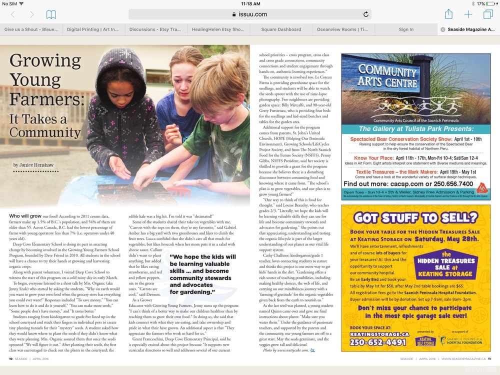 Featured in the seaside magazine on page 10 and 11