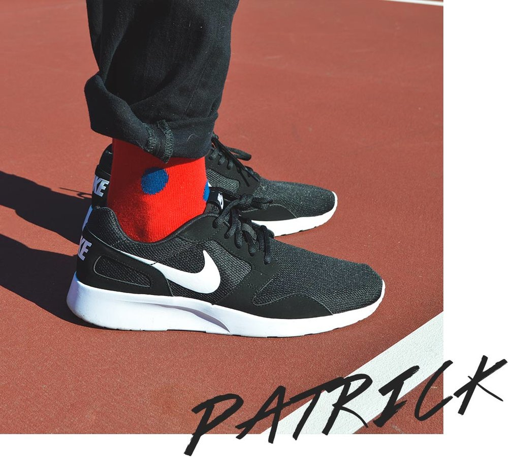 Mens Red and Blue Polka Dots Socks | Urban Drawer