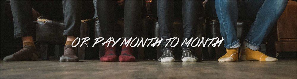Pay month to month and get pattern socks in the mail - Urban Drawer
