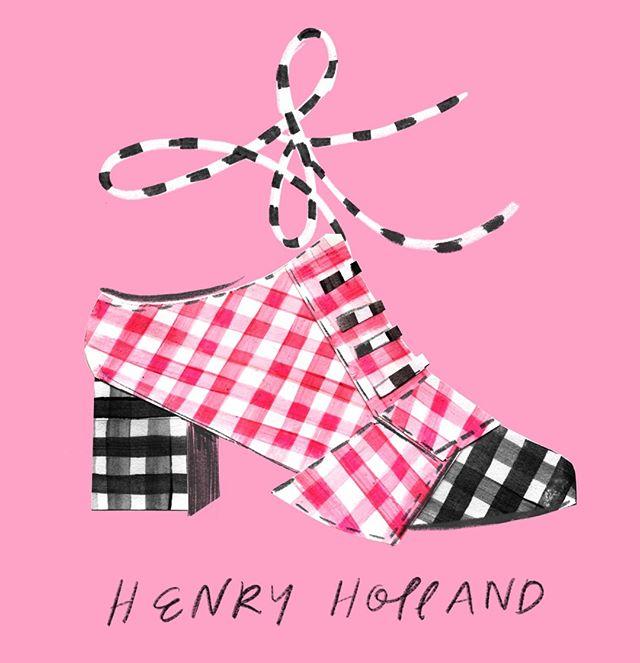 Shoe 43 / #100dreamshoes: @henryholland  #henryholland #draw #drawing #art #fashionillustration #illustration