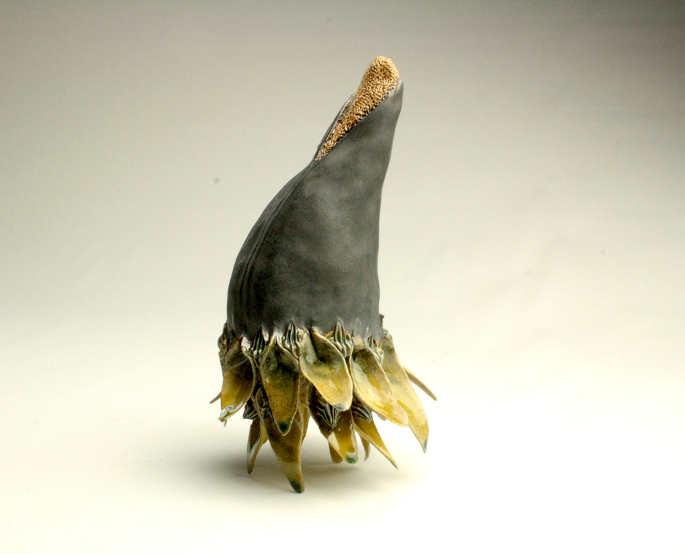 Studied flesh II, 2014, Glazed stoneware ceramic, polyester resin