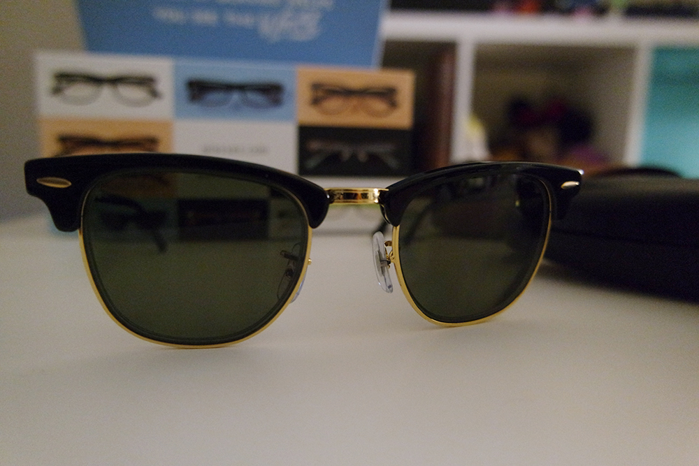 The Ray-Ban Clubmaster in Shiny Black