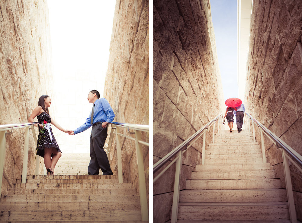 Getty Center Engagement   Stephen Grant Photography
