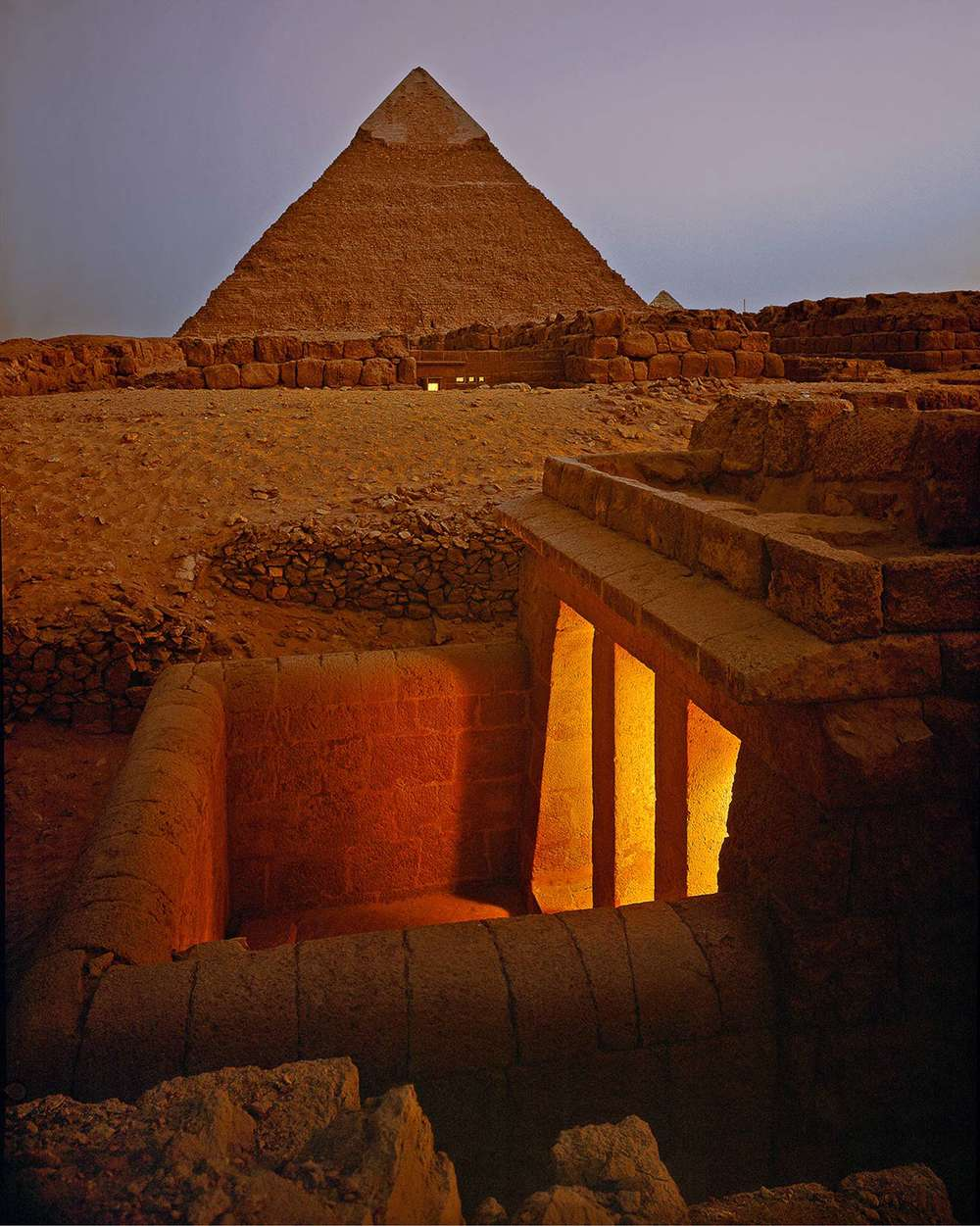 Newly excavated tombs at Giza, Egypt 1990, Shot for Condé Nast Traveler 1A - Paul Warchol.png