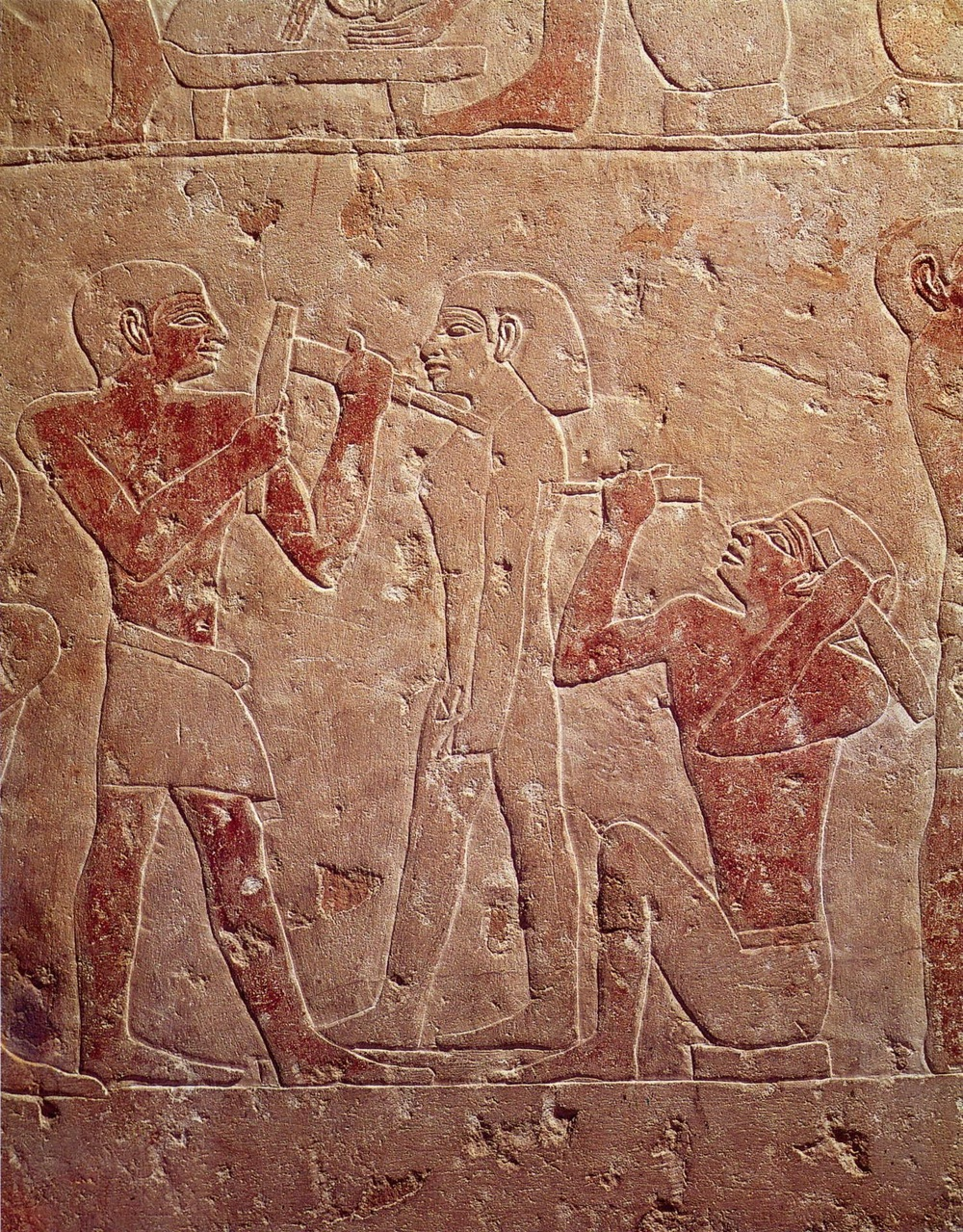 Two-Sculptors-Working-on-a-Statue-2510-2460-BC-Saqqara-Egyptian-Museum-Cairo 3B - Mastaba of  Kaemrehu.jpg
