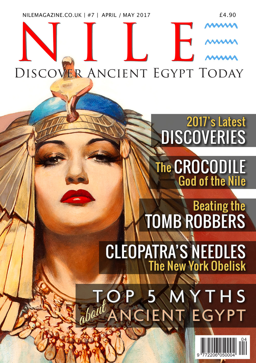 Satisfy your passion for ancient Egypt. NILE Magazine Apr-May 2017 is out now. Inside: - 66 Sekhmet statues discovered. - Largest Late Period colossus found. - Cleopatra's Needles, Part 2: The New York obelisk. - Win a signed copy of Bob Brier's new book. - Beating the tomb robbers. - The crocodile god, Sobek. - The Top 5 myths about ancient Egypt. - Plus much more. Click on the cover to subscribe.