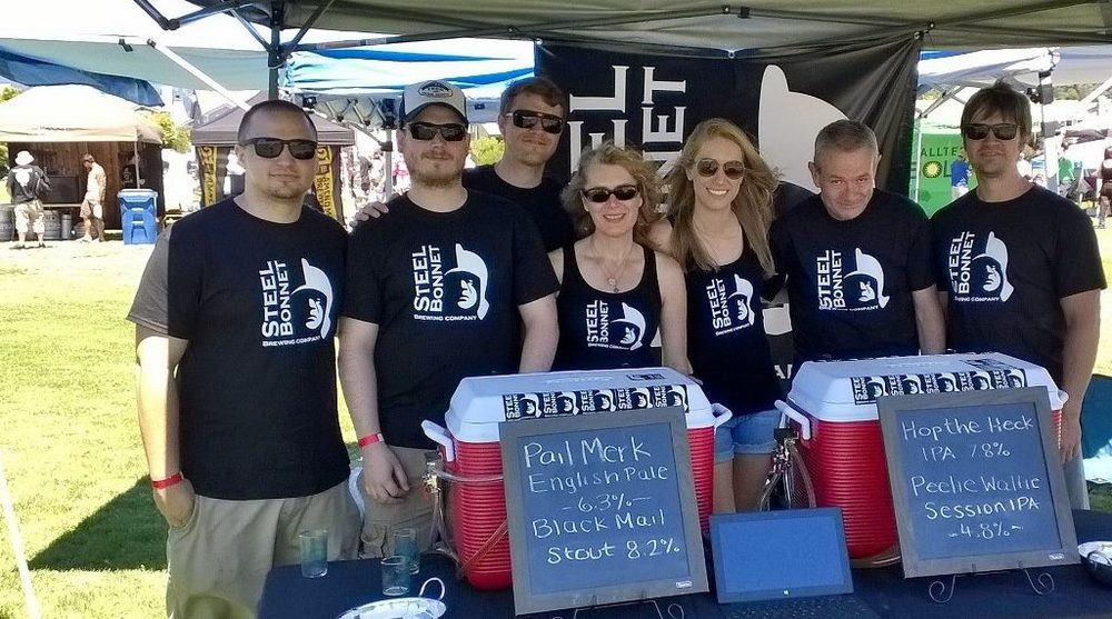 The Steel Bonnet Crew at Scotts Valley Hop 'N Barley Beer Festival, 2014.