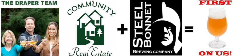 "Community Real Estate is proud to be hosting a BLOCK PARTY on Friday, April 21st from 5 to 7 pm at our favorite local pub: STEEL BONNET BREWERY.  Stop by to meet the folks behind these local, family-run businesses and your first beer is on us! This FREE community event is kid & dog friendly.  Highlights include live music by local band: UTurn, a taco bar provided by Los Gallos Taqueria, and games for kids of all ages.  Did we forget to mention that your first taco will also be on us?  Think of it as our way of saying ""THANK YOU!"" for making our community such a wonderful place to call home. Drop in on your way home from work for a cold one, and be sure to stay until 7pm for the main event.   At 7 pm there will be a drawing for your chance to win burgers & beers for 10 at Scotts Valley's BEE FRUITFUL FARMS.  Organic fare will be on the menu of course! We hope to see you all there.  Cheers!"