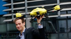 ambulance drone, yellow ambulance drone,