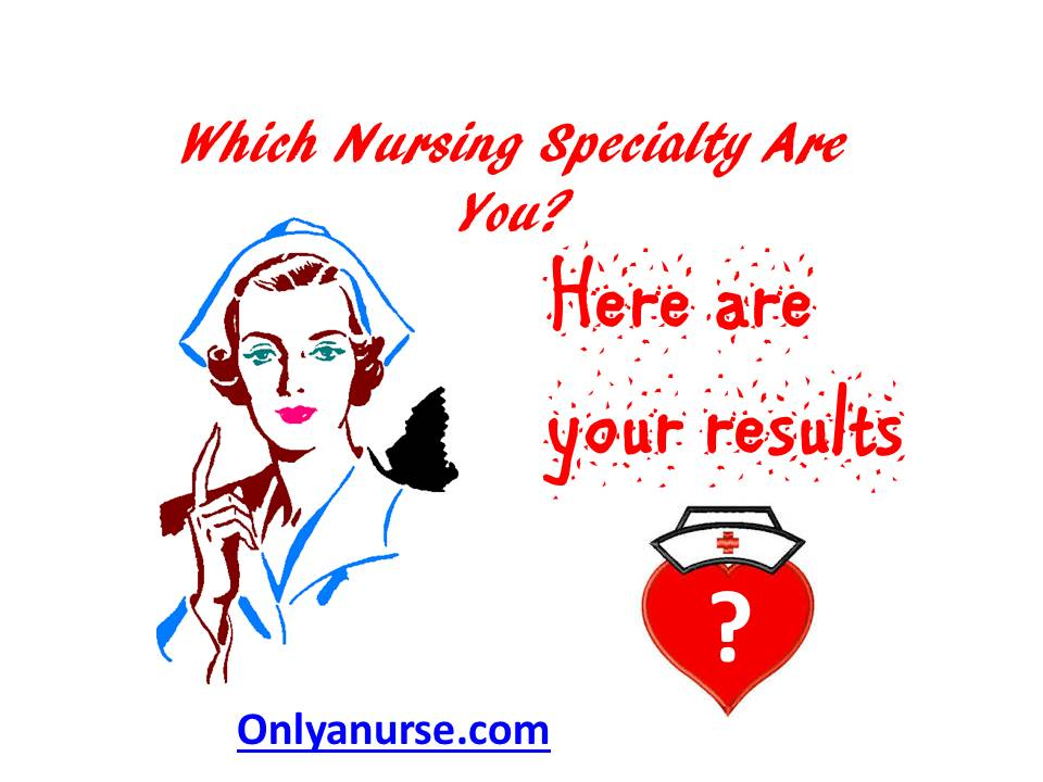 """Results of the """"Which Nursing Specialty are you"""