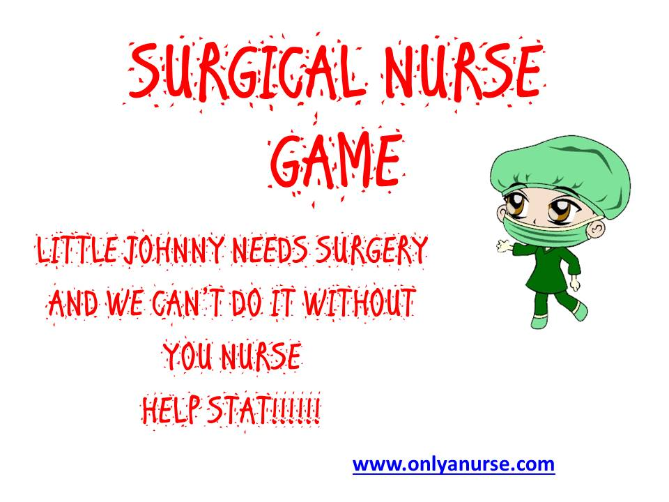 SURGICAL NURSE GAME. GAMES FOR NURSES