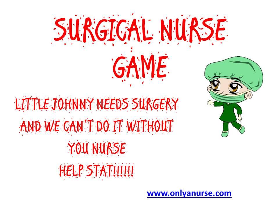 SURGICAL NURSE GAME. GAMES FOR NURSES