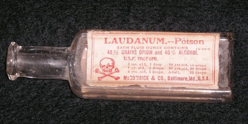 Laudanum used in the 1800's