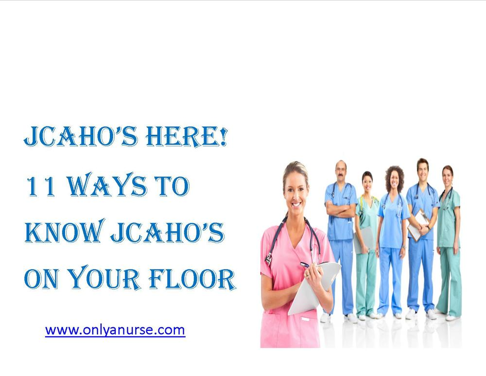 JHACO's here. 11 Ways to know Jhaco's on your floor, Onlyanurse, Onlyanurse.com