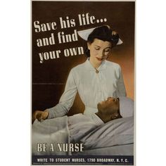 World War Two Nurse Propaganda Poster