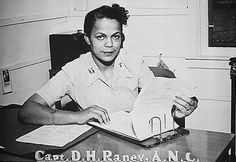 Captain Della H. Raney, the first black nurse to report to duty in the World War Two.