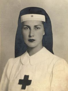 Beautiful nurse. Date unknown
