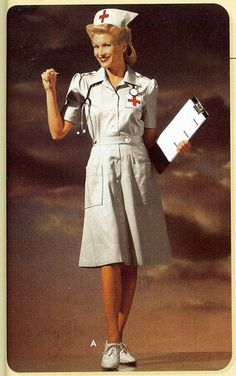 WWII Nurse in full  uniform