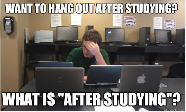 "Nursing students get very little ""after study"" time unfortunately!"