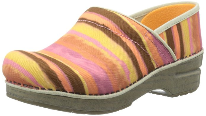 Dansko Peach Striped Clog-FREE SHIPPING