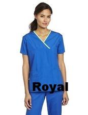 693635d7a72 WonderWink Women's Scrubs Charlie 5 Pocket Y-Neck Wrap Top Royale Blue.jpg