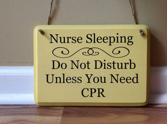"funny nurse ""do not disturb sign"""