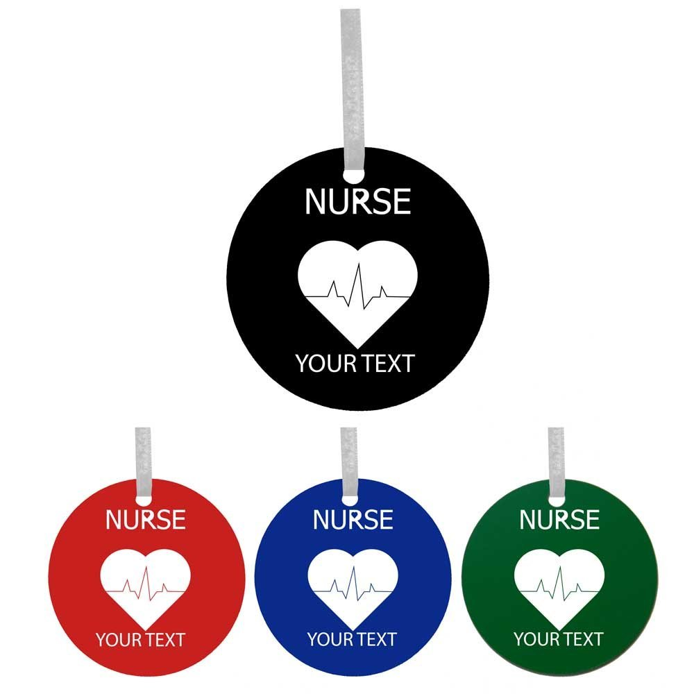 Personalized Custom Rn, Lpn, Cna Nurse Pulse Colorful Acrylic ...