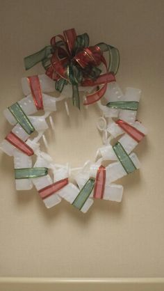 Christmas wreath made from urinals