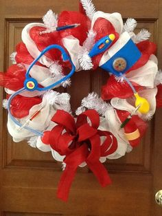 Nurse christmas wreath