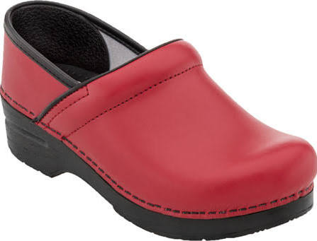 Red box Dansko Women's Professional Patent Clog