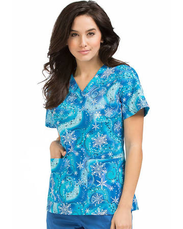 Peaches Anna Scrub top