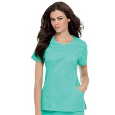 Landau Women's Smart Stretch Scoop Neck Scrub Top