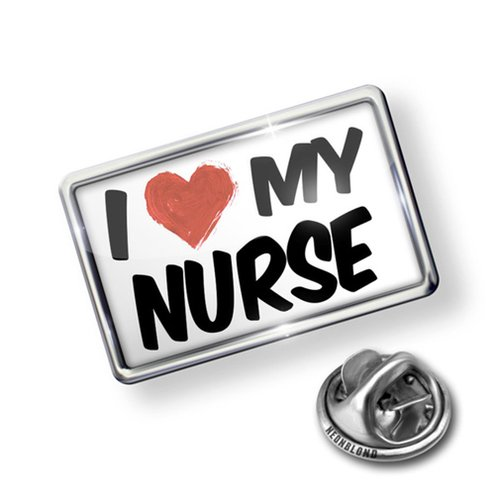 Pin I Love my Nurse - Lapel Badge - NEONBLOND