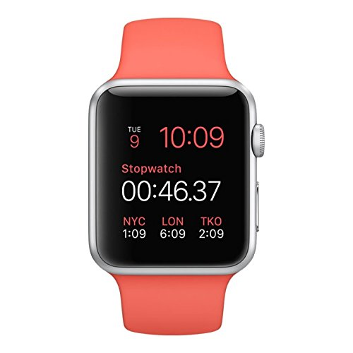 Apple Smartwatch Sport 42mm Silver Aluminium Case Pink Sport Band