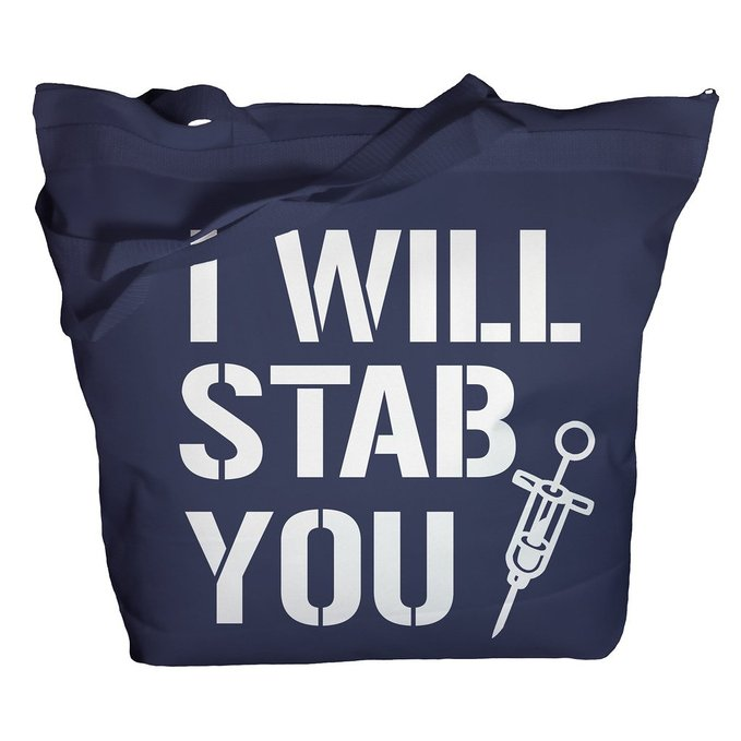 Tote Bag Funny Nursing Bags I Will Stab You Nurse Totes Tote Bag
