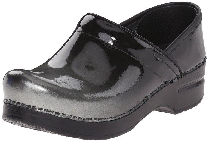 Dansko Women's Professional Grey Ombre Patent Mule