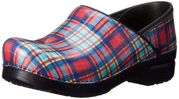 Dansko professional multi plaid