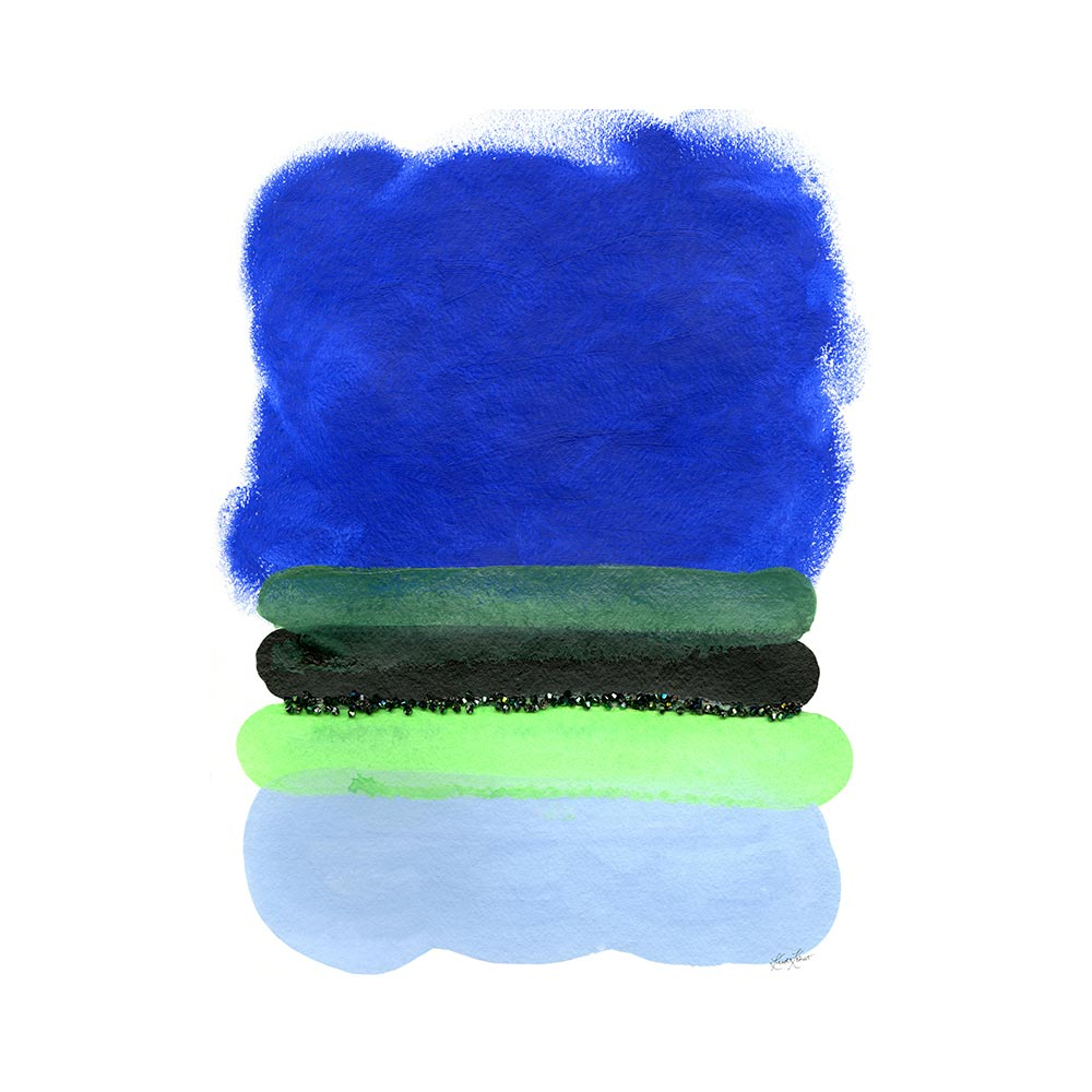 COBALT FIELD - TRADITIONAL GALLERY PRINTCANVAS GALLERY WRAPLUXE LUCITE SHADOWBOX
