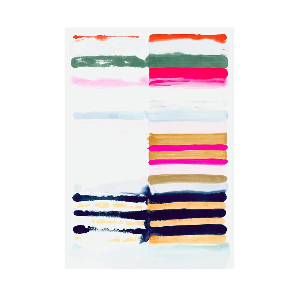 HOT STRIPES - TRADITIONAL GALLERY PRINTCANVAS GALLERY WRAPLUXE LUCITE SHADOWBOX