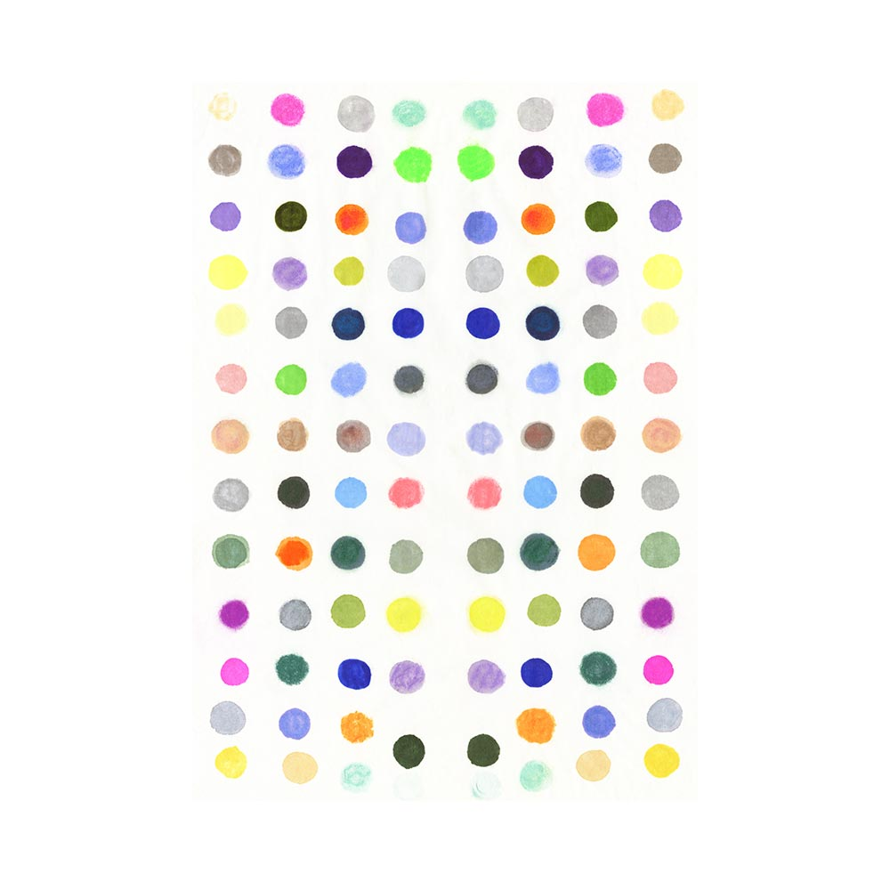 DOTS 6 #1 - TRADITIONAL GALLERY PRINTCANVAS GALLERY WRAPLUXE LUCITE SHADOWBOX