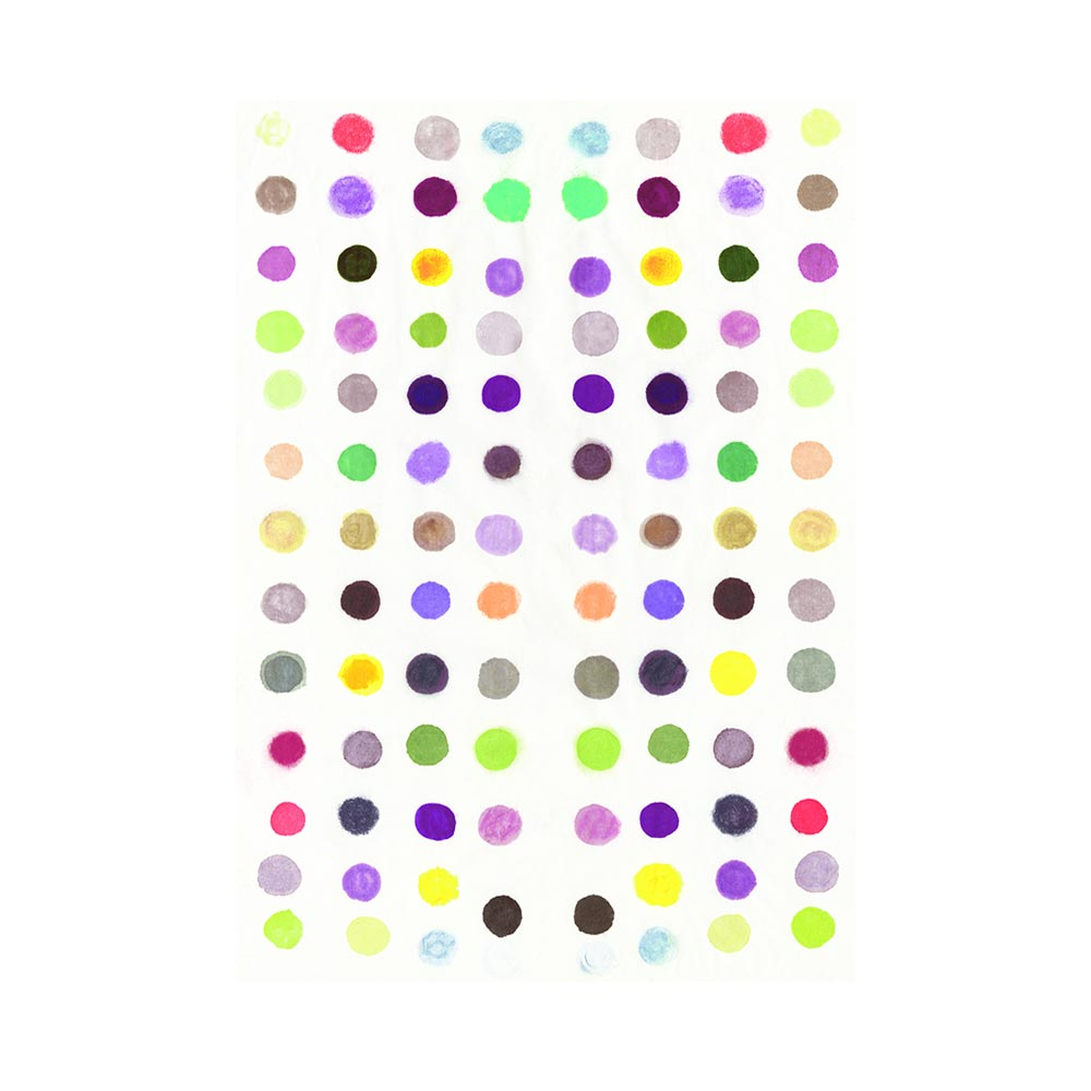 DOTS 6 #2 - TRADITIONAL GALLERY PRINTCANVAS GALLERY WRAPLUXE LUCITE SHADOWBOX