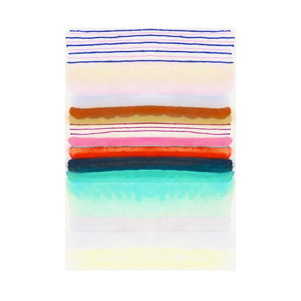 SUGARED STRIPE - TRADITIONAL GALLERY PRINTCANVAS GALLERY WRAPLUXE LUCITE SHADOWBOX