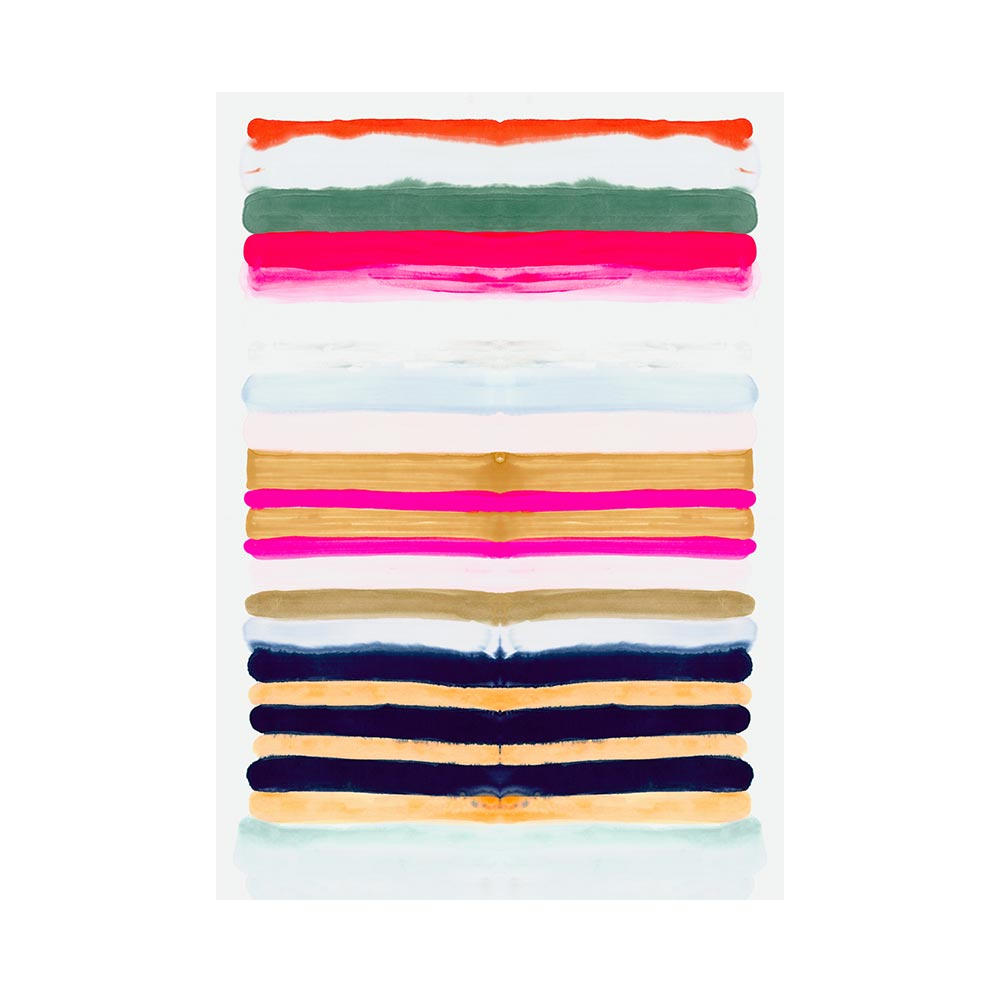HOT STRIPES 2 - TRADITIONAL GALLERY PRINTCANVAS GALLERY WRAPLUXE LUCITE SHADOWBOX