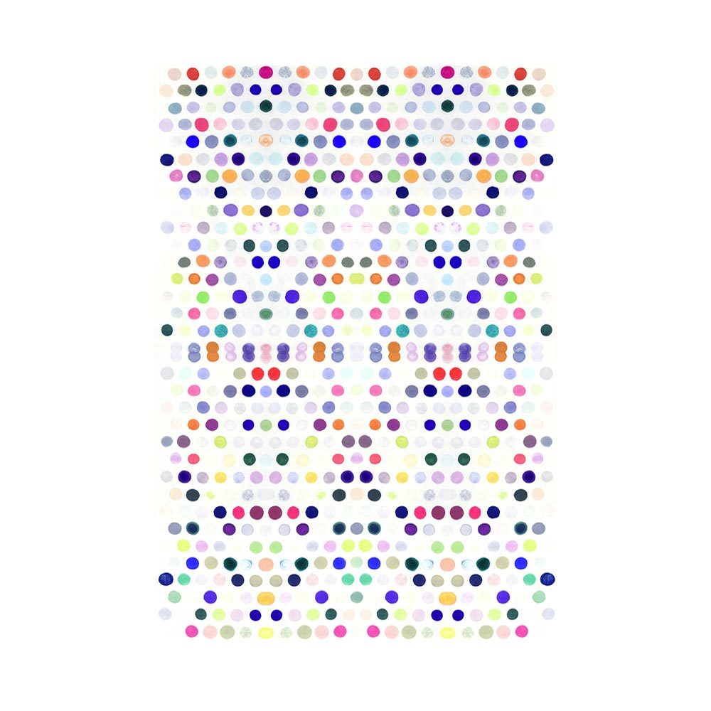 DOTS 5 #2 - TRADITIONAL GALLERY PRINTCANVAS GALLERY WRAPLUXE LUCITE SHADOWBOX