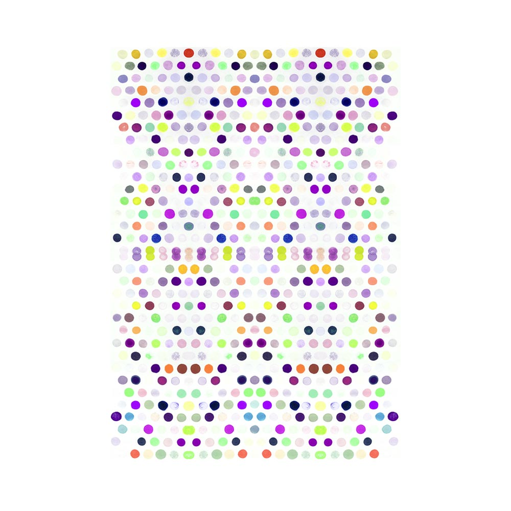DOTS 5 #3 - TRADITIONAL GALLERY PRINTCANVAS GALLERY WRAPLUXE LUCITE SHADOWBOX
