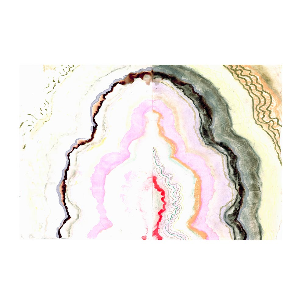 COTTON CANDY AGATE - TRADITIONAL GALLERY PRINTCANVAS GALLERY WRAPLUXE LUCITE SHADOWBOX